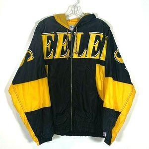 Pittsburgh Steelers Vintage Spell Out Rain Coat